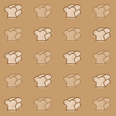 Brown Comic Bread Background Vector EPS10, Great for any use.
