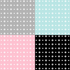 Seamless patterns, polka dots set Vector EPS10, Great for any use.
