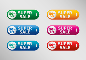 Super Sale banner  and infographic design template