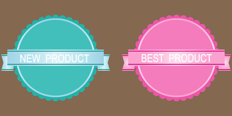 Vector new product labels