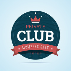 Private club badge.