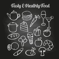 Food Doodles Chalkboard