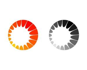 Sun inside a circle