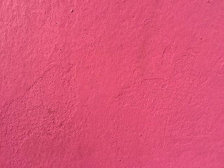 red cement wall