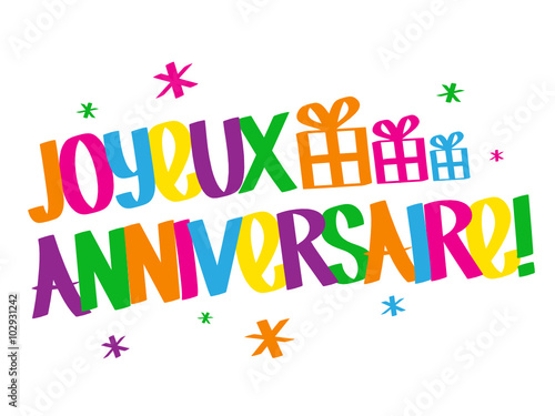 Carte Joyeux Anniversaire Stock Image And Royalty Free Vector