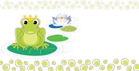 Frog baptism invitation with space to write your message