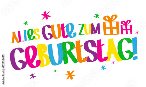 Alles Gute Zum Geburtstag Graffiti Karte Stock Image And Royalty