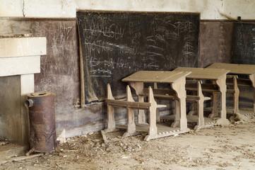 abandoned desks