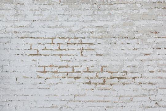 White wall of bricks