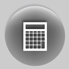 Flat paper cut style icon of calculator