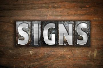 Signs Concept Metal Letterpress Type