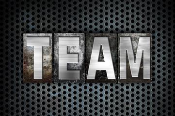 Team Concept Metal Letterpress Type