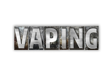 Vaping Concept Isolated Metal Letterpress Type