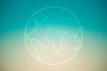 Composite image of globe shape