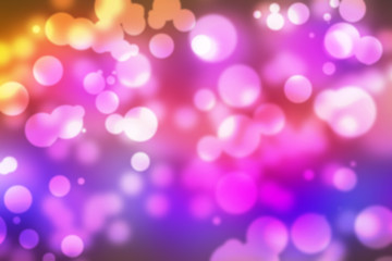 Abstract illustration bokeh light on colorful background