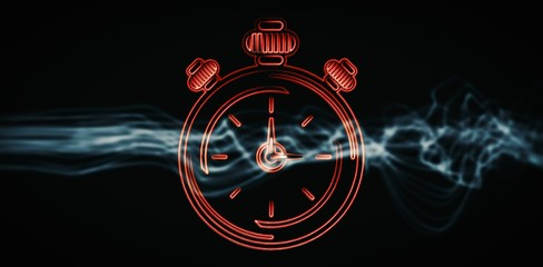 Composite image of alarm clock