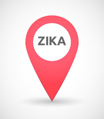 "Illustration of the word ""Zika""   in a map mark"