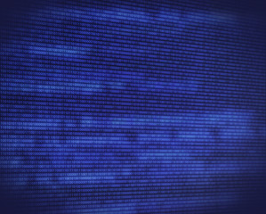 Abstract binary blue code on digital screen
