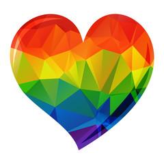 bright rainbow heart