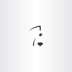 stylises dog face logo icon