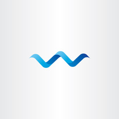 water wave spiral letter w vector logo icon