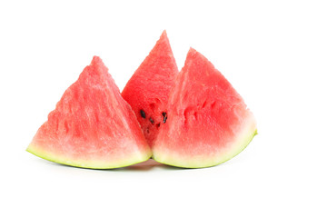 Tasty slice of watermelon isolated on a white
