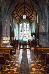 Ireland, Kilkenny, the St Canice's cathedral inside