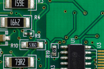 Electronic Printed Circuit Board with Electronic components
