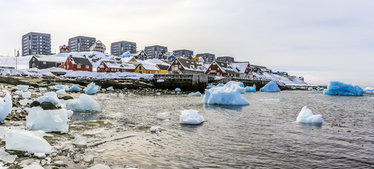 Nuuk old harbor view