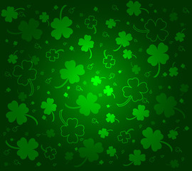 St. Patrick's day background with clovers