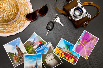 concept of travel and photographs