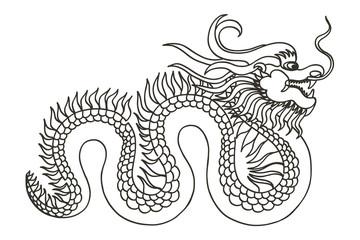 Chinese Dragon. Asia.