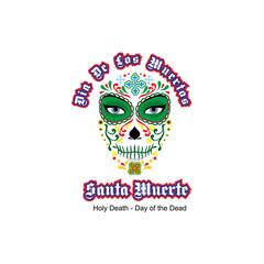 Holy Death, sugar skull, grunge.vintage design t-shirts