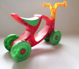 Plastic red with green Bicycle for kids