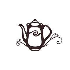 Illustration with teapot