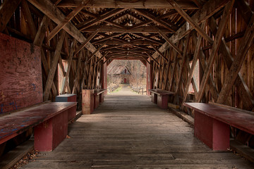 Red Barn Bridge Interior Wall mural