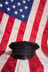 Police Hat with Flag