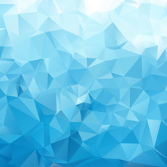 Blue White Light Polygonal Mosaic