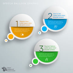 Infographic 3-Step Process #Vector Graphic