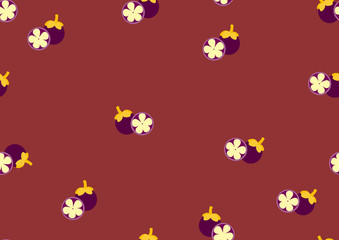 Background from the cut mangosteen,Pattern fruits,Vector illustrations