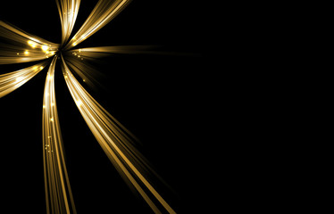 Shiny gold color