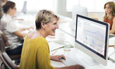 Businesswoman Contemporary Cooperation Creative Concept