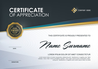 Certificate template with luxury patterndiplomavector see more yadclub