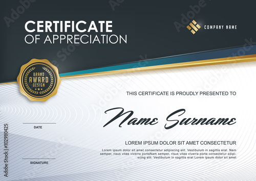 certificate template with luxury pattern,diploma,Vector illustration ...