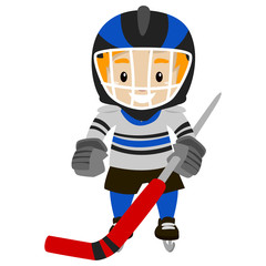 Illustration of Ice Hockey Player