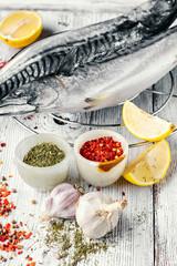 Cooking raw mackerel