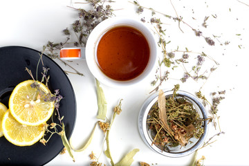 Linden and thyme tea