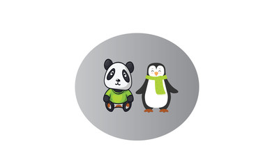 Panda and Penguin