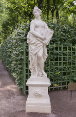 "The sculpture ""Allegory of mercy"" in the Summer Garden"