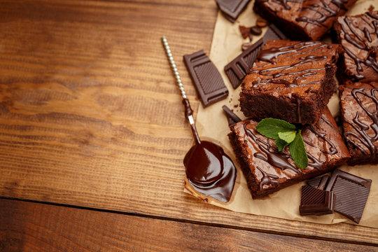 chocolate cake on a baking sheet